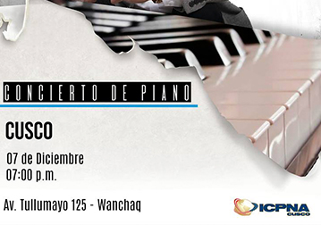 Recital de Piano ICPNA CUSCO
